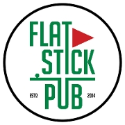 This is the restaurant logo for Flatstick Pub