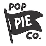 This is the restaurant logo for Pop Pie Co. University Heights