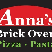 This is the restaurant logo for Anna's Brick Oven Pizza and Pasta