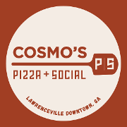 This is the restaurant logo for Cosmo's Pizza + Social