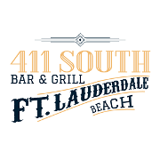 This is the restaurant logo for 411 South Bar and Grill