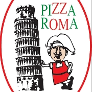This is the restaurant logo for Pizza Roma - Aventura