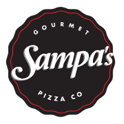 This is the restaurant logo for Sampa's Pizza