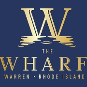 This is the restaurant logo for The Wharf