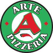 This is the restaurant logo for Arte Pizzeria