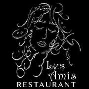 This is the restaurant logo for Les Amis Restaurant