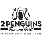 This is the restaurant logo for 2 Penguins Tap & Grill