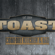 This is the restaurant logo for Toast Comfort Kitchen & Bar