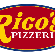 This is the restaurant logo for Rico's Pizzeria