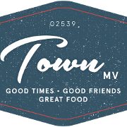 This is the restaurant logo for Town Bar and Grill MV
