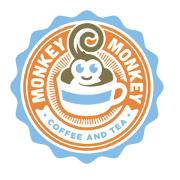 This is the restaurant logo for Monkey Monkey Coffee and Tea