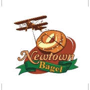 This is the restaurant logo for Newtown Bagel Company