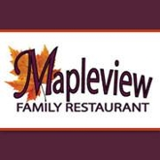 This is the restaurant logo for Mapleview Family Restaurant