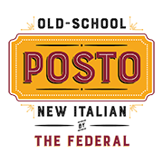 This is the restaurant logo for Posto by The Federal