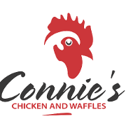 This is the restaurant logo for Connie's Chicken and Waffles DeCo