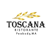This is the restaurant logo for Toscanas Ristorante