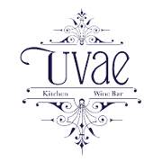 This is the restaurant logo for Uvae Kitchen & Wine Bar
