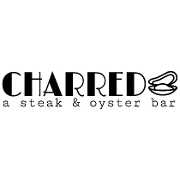 This is the restaurant logo for Charred: A Steak & Oyster Bar