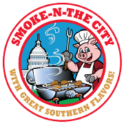 This is the restaurant logo for Smoke N The City
