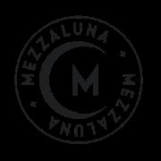 This is the restaurant logo for Mezzaluna