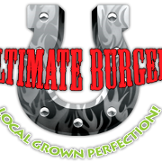 This is the restaurant logo for Ultimate Burger