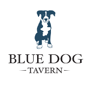 This is the restaurant logo for Blue Dog Tavern