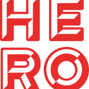 This is the restaurant logo for Hero Doughnuts & Buns