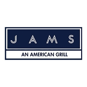 This is the restaurant logo for Jams American Grill