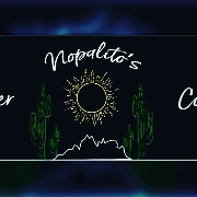 This is the restaurant logo for Nopalito's