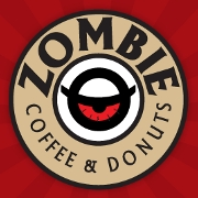This is the restaurant logo for Zombie Coffee and Donuts Athens