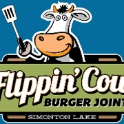This is the restaurant logo for Flippin Cow