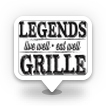 This is the restaurant logo for Legends Grille