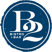 This is the restaurant logo for B2 Bistro + Bar