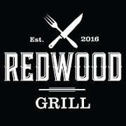 This is the restaurant logo for Redwood Grill