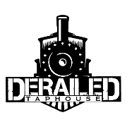 This is the restaurant logo for Derailed Taphouse