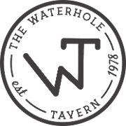 This is the restaurant logo for The Waterhole Tavern