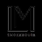This is the restaurant logo for Landmark Smokehouse
