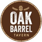 This is the restaurant logo for Oak Barrel Tavern