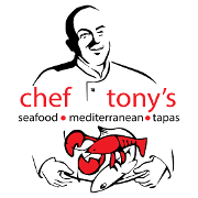 This is the restaurant logo for Chef Tony's Seafood Restaurant: St Elmo Location