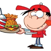This is the restaurant logo for Jimmy Burgers