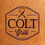 This is the restaurant logo for COLT 804 Grill