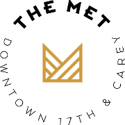 This is the restaurant logo for The Metropolitan Downtown