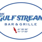 This is the restaurant logo for The Gulf Stream Bar and Grille
