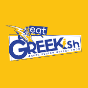 This is the restaurant logo for Eat Greekish