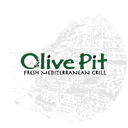 This is the restaurant logo for Olive Pit