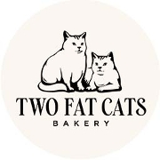 This is the restaurant logo for Two Fat Cats Bakery