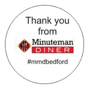 This is the restaurant logo for Minuteman Diner