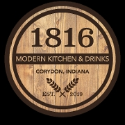 This is the restaurant logo for 1816 Modern Kitchen & Drinks