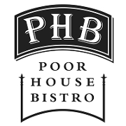 This is the restaurant logo for Poor House Bistro