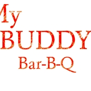 This is the restaurant logo for My Buddy's BBQ & Catering